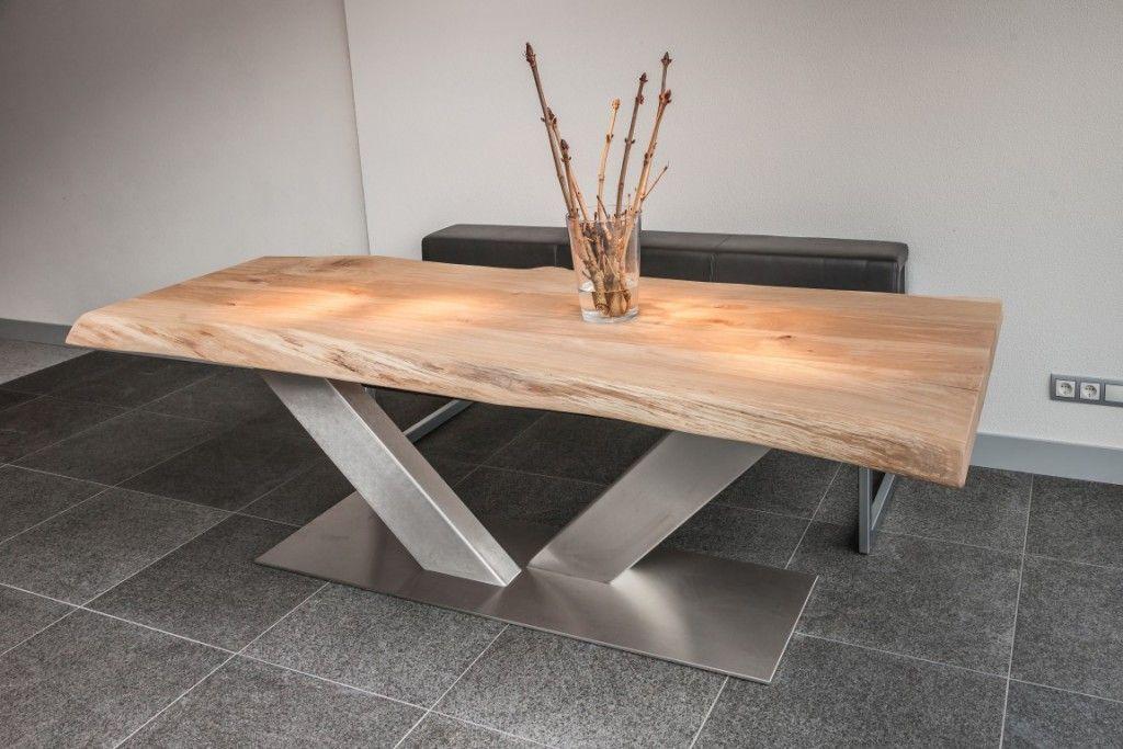 Tafels met rvs onderstel pinterest tisch und stühle esstische