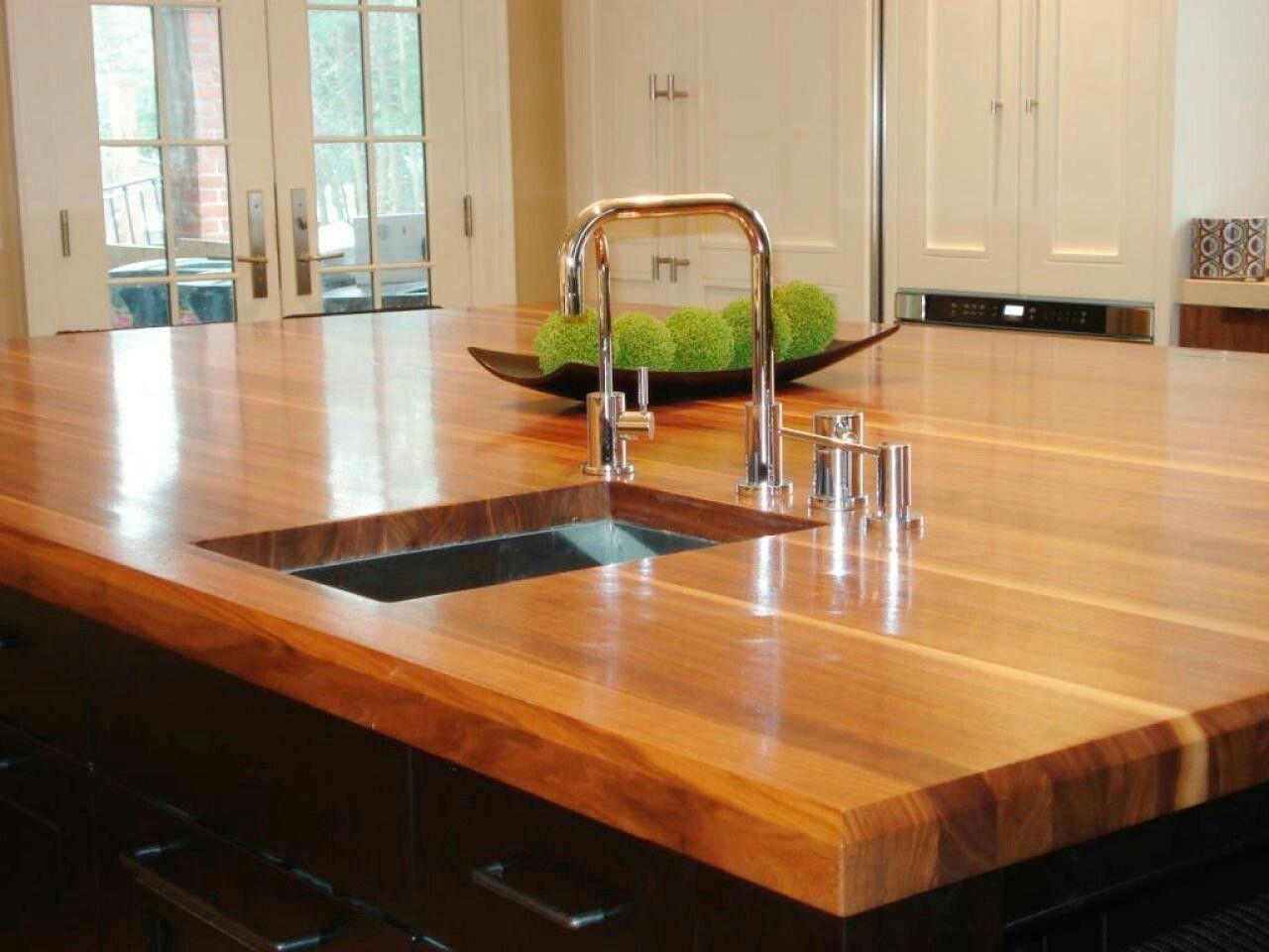 Beveled Edge Wood Countertops Kitchen Outdoor Kitchen