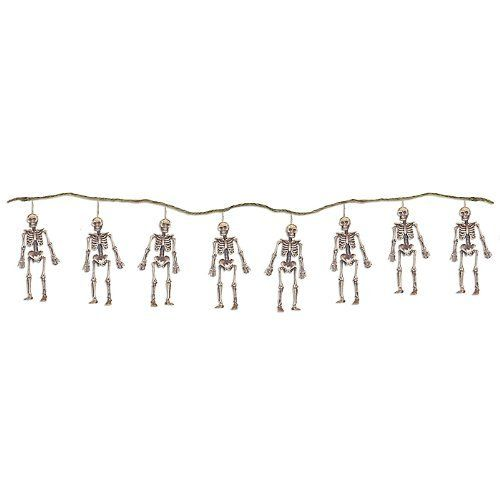 Plastic Skeleton Decoration Garland By The Gothic Collection 9 99 Hang These Guys Around Your Haunted House String Of Skeletons