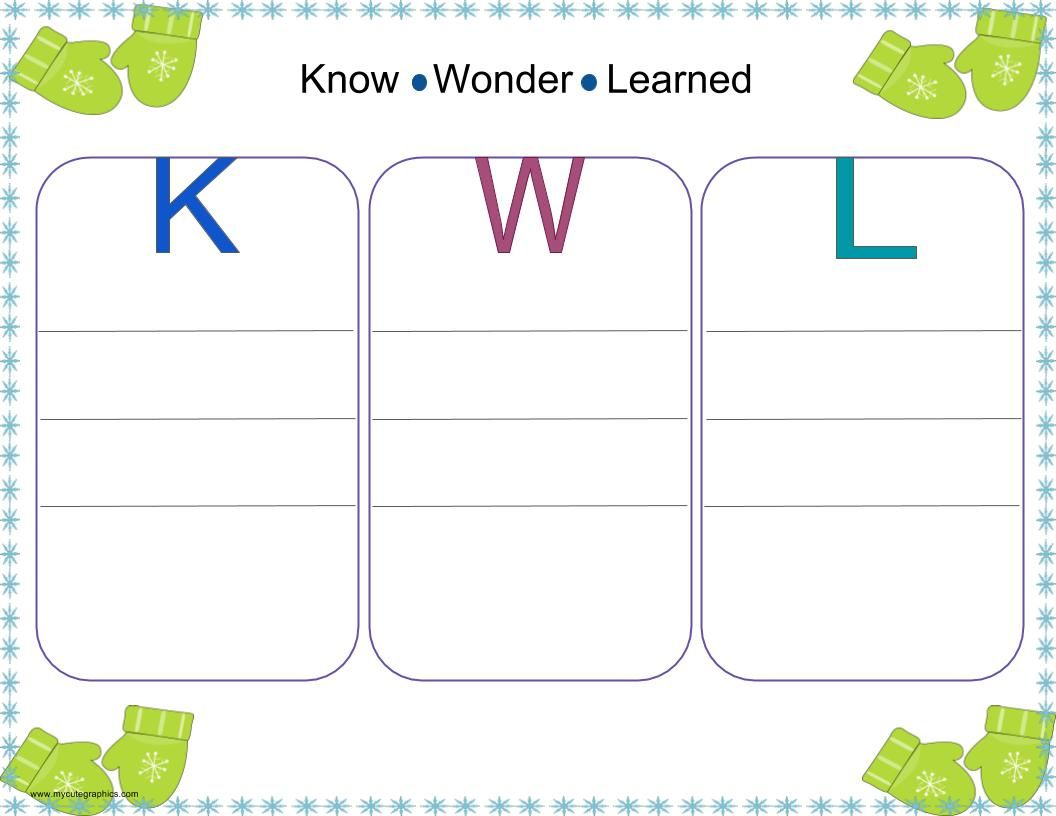Winter Writing Graphic Organizers for Kindergarten and First Grade ...