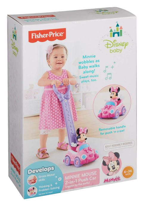 Fisher Price Disney Baby Minnie Mouse 2 In 1 Push Car Baby Minnie Baby Disney Baby Minnie Mouse