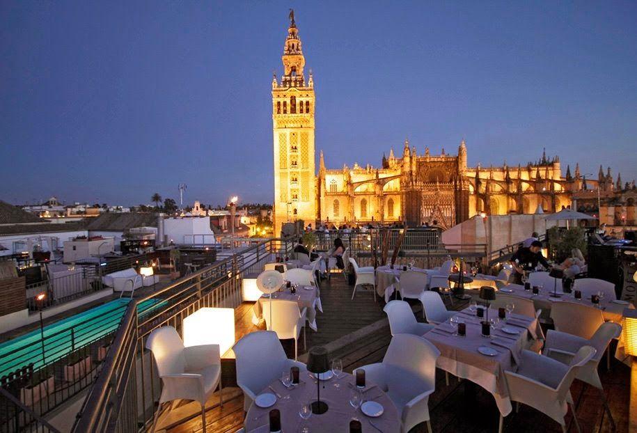 Sube Al Skyline Sevillano Del Restaurante Panoramico La Terraza De Eme Ferry Building San Francisco Rooftop Bar Seville