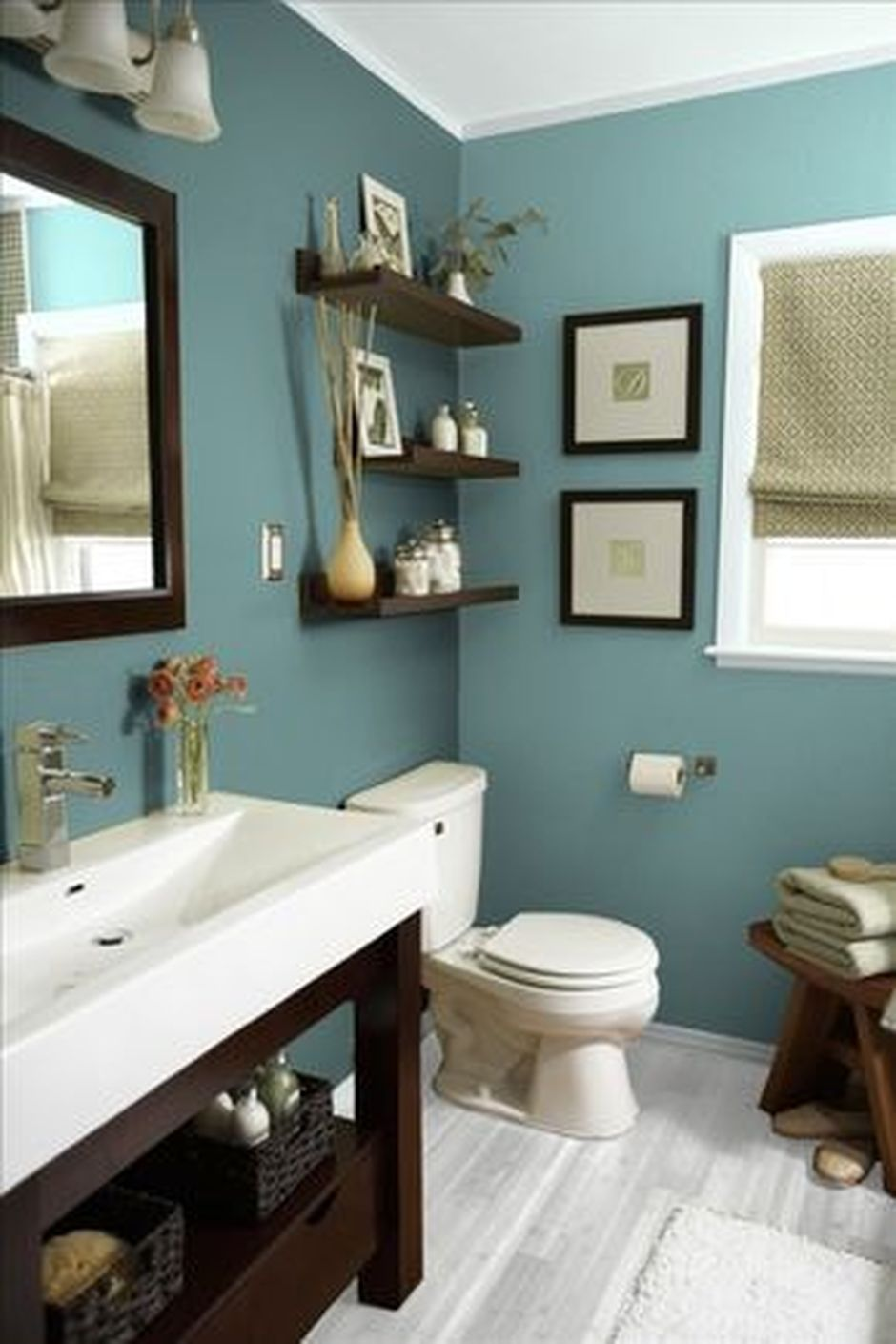 70 Brilliant Hacks Small And Tiny Bathroom Organizations Ideas Hoommy Com In 2020 Best Bathroom Paint Colors Small Bathroom Remodel Painting Bathroom