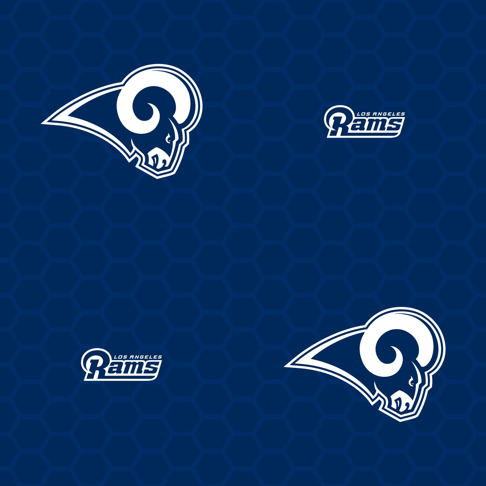 Los Angeles Rams Logo Pattern (Blue) Officially