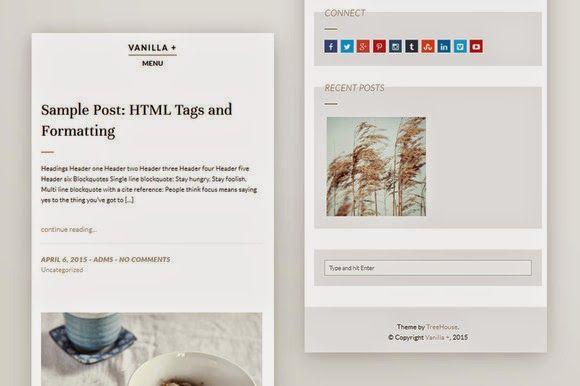 Vanilla  Responsive WordPress Theme