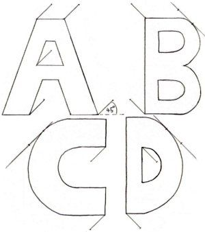 How To Draw 3D Letters Cavalier