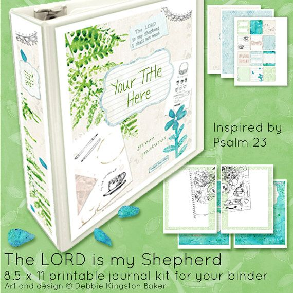 The LORD Is My Shepherd 8.5 X 11 Binder By