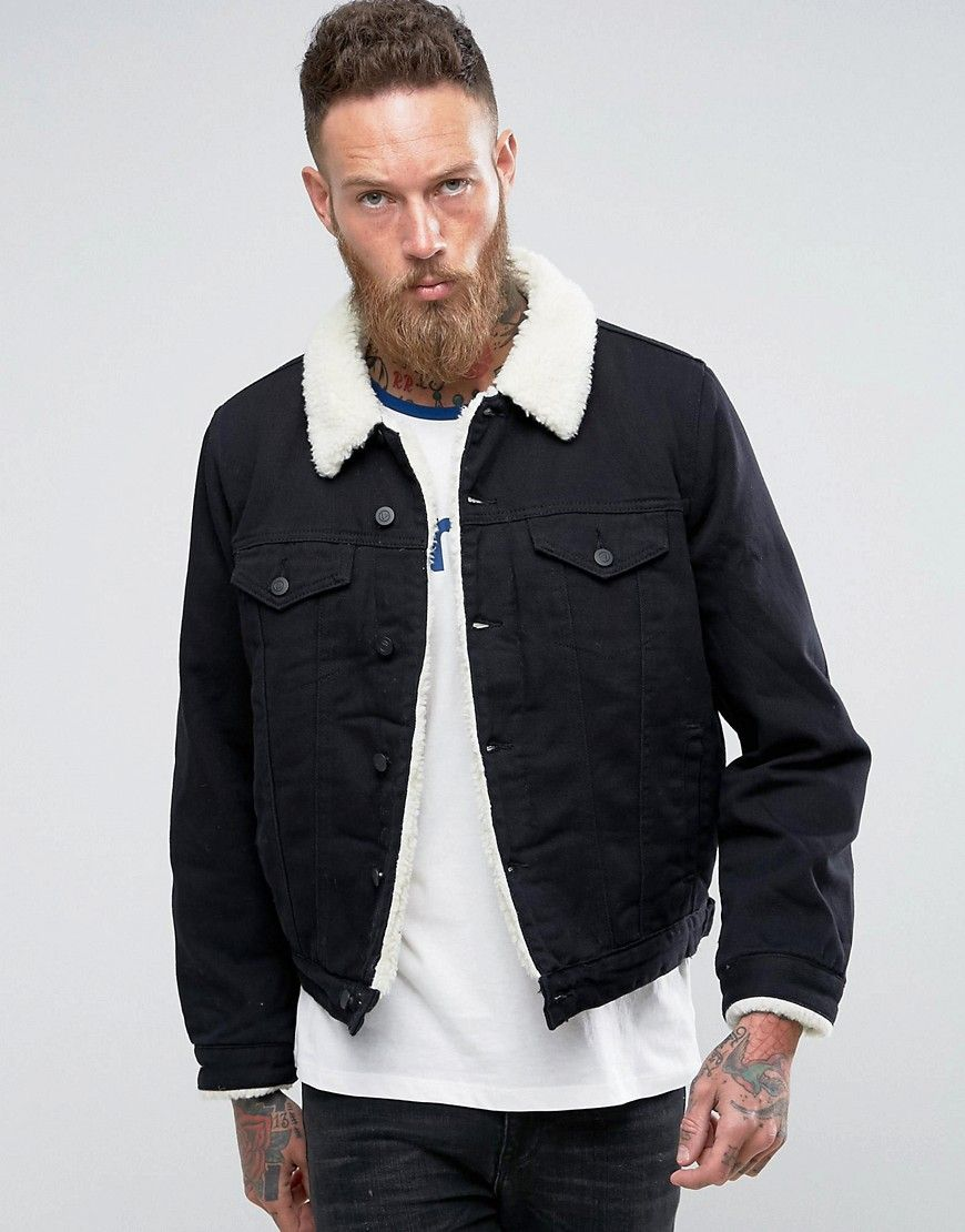 Get This Asos S Denim Jacket Now Click For More Details Worldwide Shipping Asos Borg Lined Denim Borg Lined Denim Jacket Lined Denim Jacket Denim Jacket Men [ 1110 x 870 Pixel ]