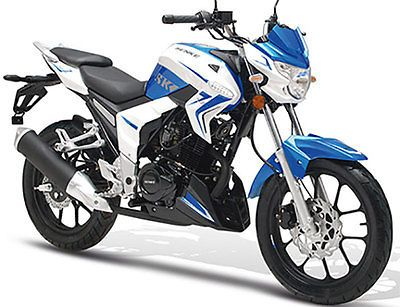 razory r101 125ccm motorrad naked bike weiss blau mit mp3. Black Bedroom Furniture Sets. Home Design Ideas