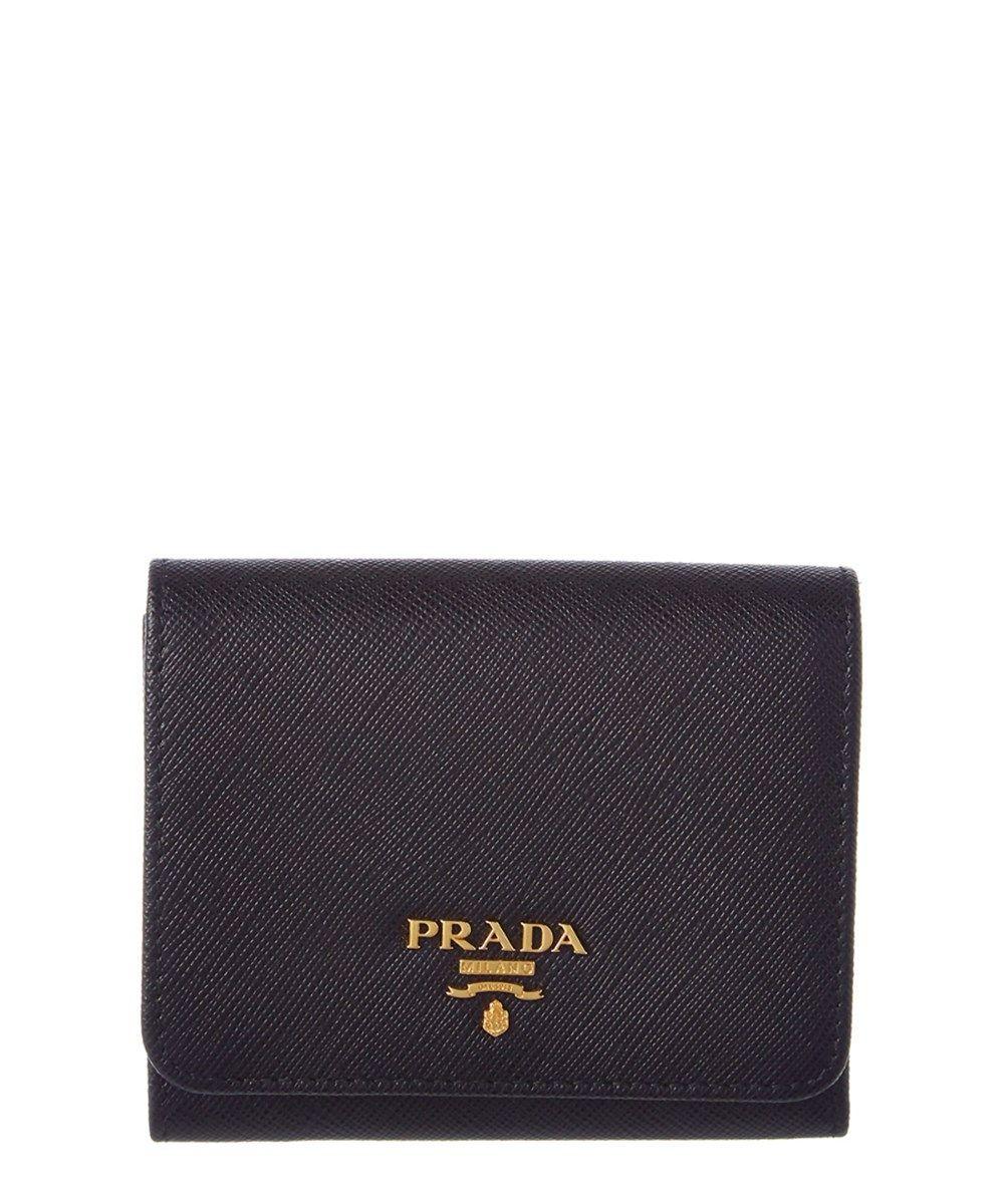 ebbad88f25 Prada Prada Saffiano Leather Flap Wallet at Bluefly.com.