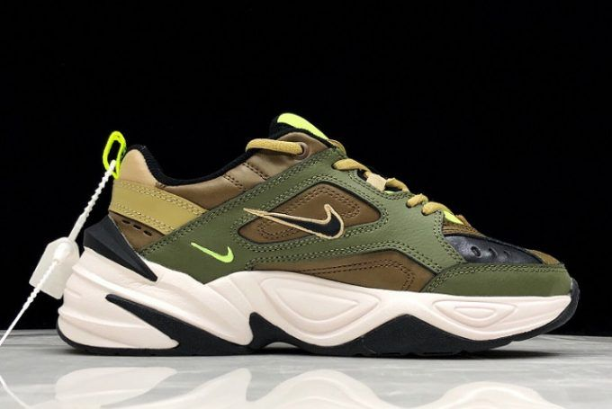 Nike M2K Tekno Medium OliveBlack Yukon Brown | 2AM Project