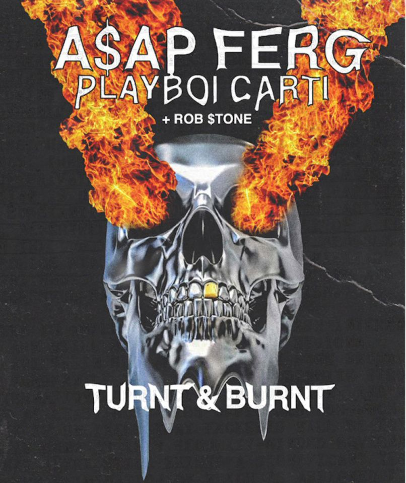 ASAP Ferg 'Turnt & Burnt' North American tour poster