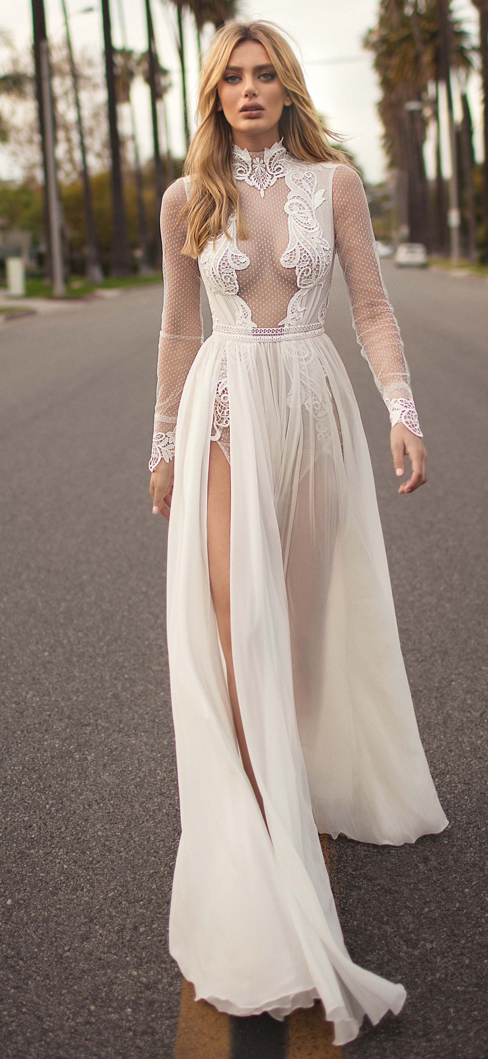 Wedding dress fromy muse by berta bridal long sleeve unique