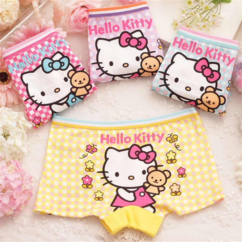 Children Underwear Girls Boxer Baby Cartoon Panties 4 Pieces Modal Cotton Undies