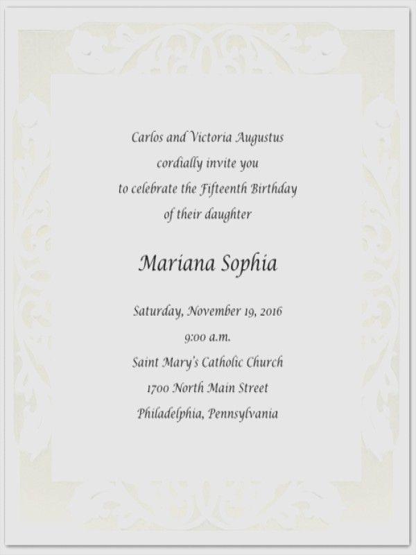 Hispanic Quinceanera Invitation Wording In Spanish Cards Party Invitations