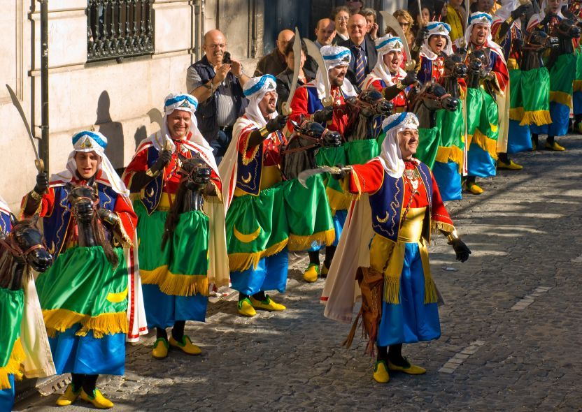 Moors and Christians Festival. Moros y Cristianos, literally in English Moors and Christians, is a set of festival activities which are celebrated in many towns and cities of Spain, mainly in the southern Valencian Community