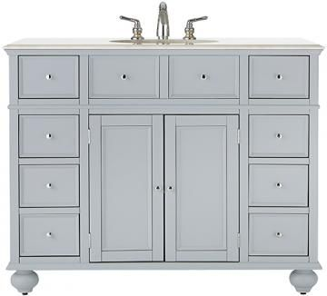 Hampton Bay 44 W Single Bath Vanity With White Marble Top Sink Cabinets