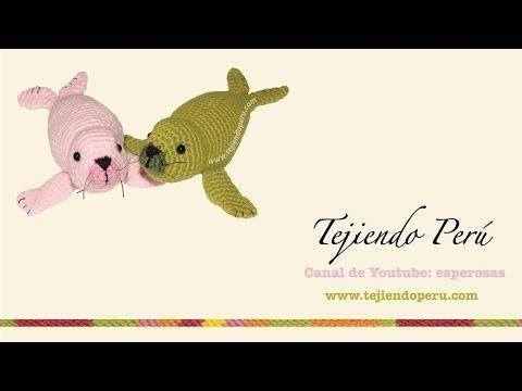 Foca tejida a crochet (amigurumi seal): aletas posteriores - YouTube