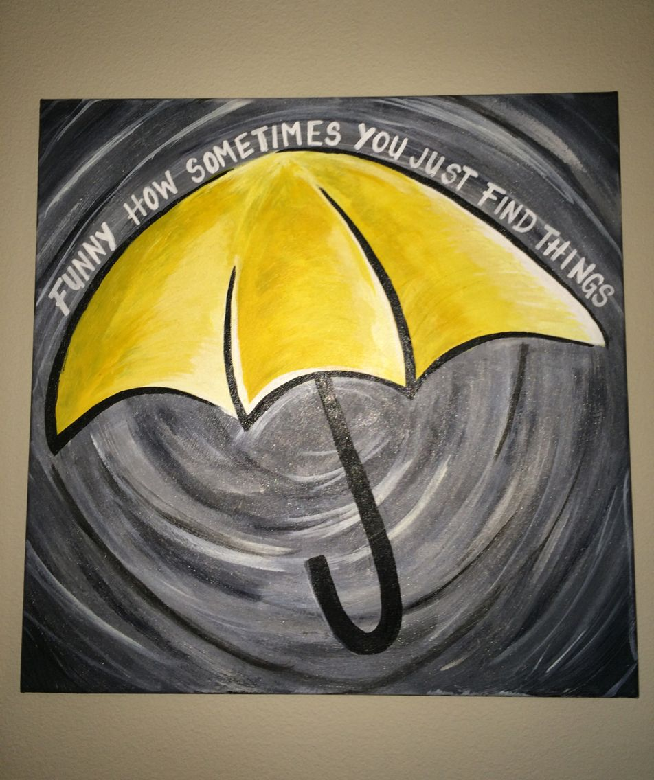 my himym painting i did for my boyfriend of course with. Black Bedroom Furniture Sets. Home Design Ideas