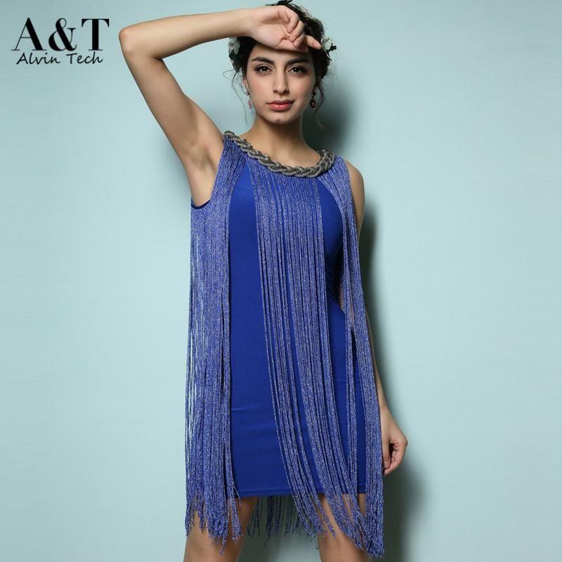 Fringe Neck Dress