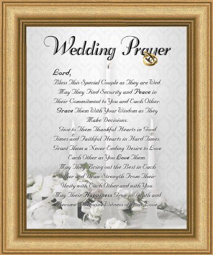 Wedding Marriage Anniversary Prayer Satin Gold Frame 8 X 10 Inspirational Gift Wall Décor
