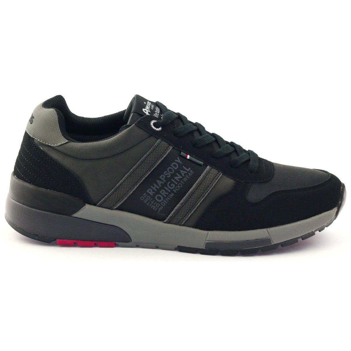American Club Adi Sportowe Buty Meskie American 603033 Czarne Szare Shoes Adidas Sneakers Adidas