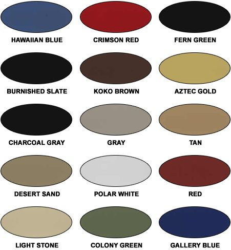 Steelco Steel Building Color Chart Accessories And Components
