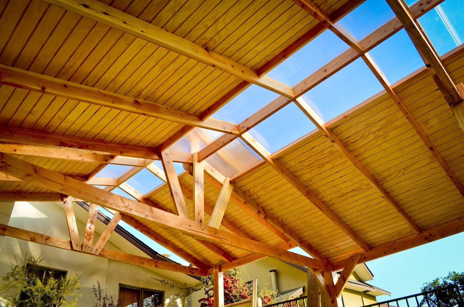Resultado de imagen para cobertizo de madera terraza for Cobertizo de jardin moderno de techo plano