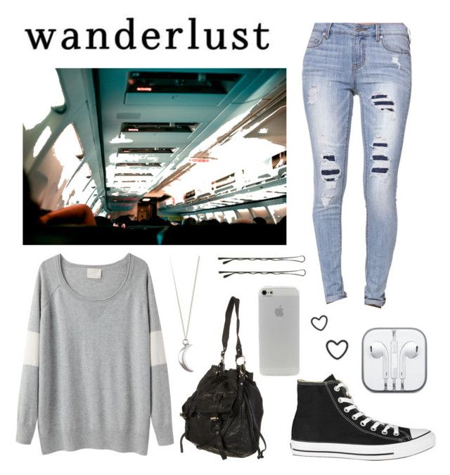 """""""Untitled #3"""" by taija1 ❤ liked on Polyvore featuring Band of Outsiders, Bullhead Denim Co., Mason's, Converse, women's clothing, women's fashion, women, female, woman and misses"""