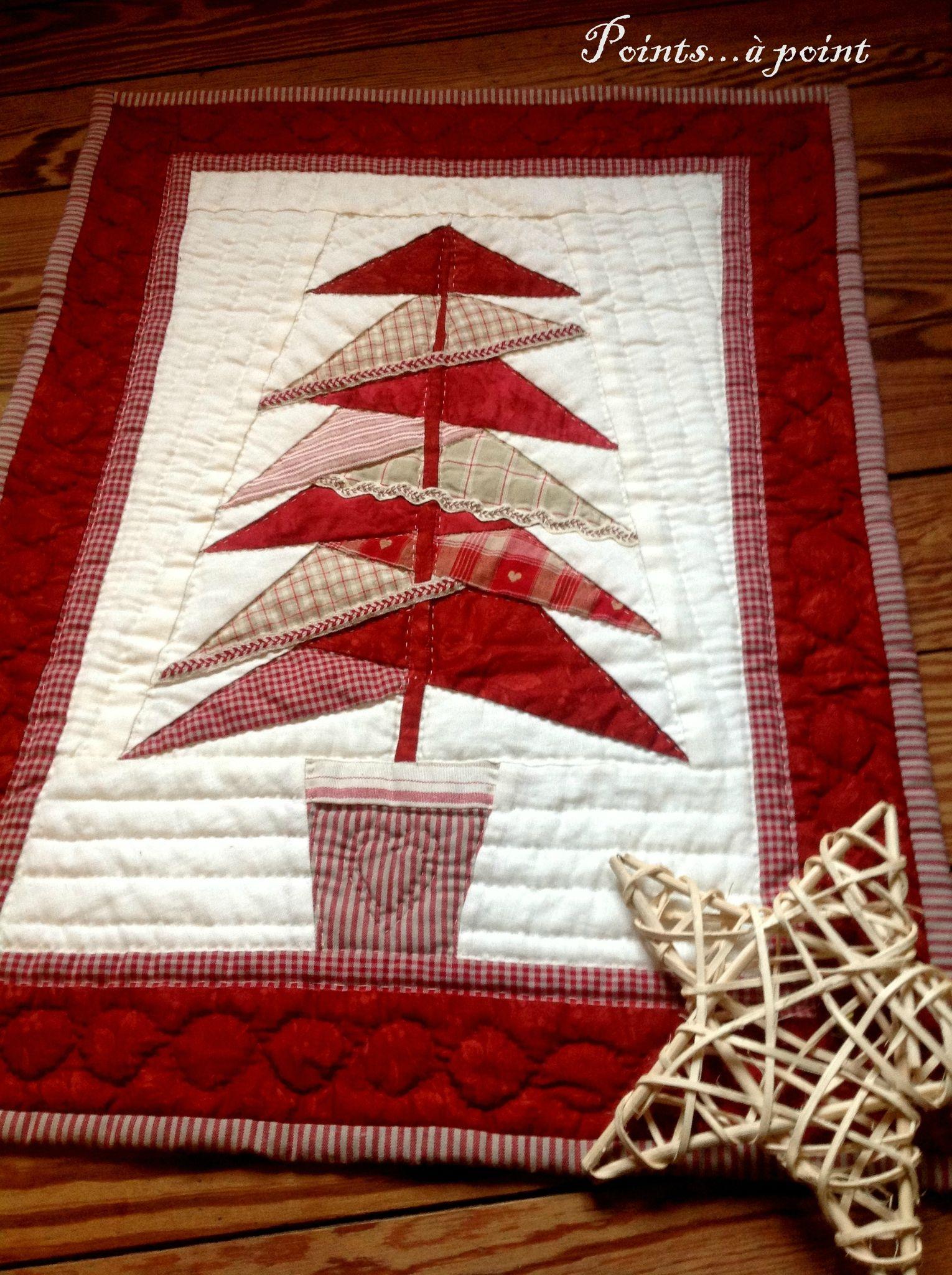 voeux pour no l points point deco noel christmas tree quilt christmas sewing et. Black Bedroom Furniture Sets. Home Design Ideas