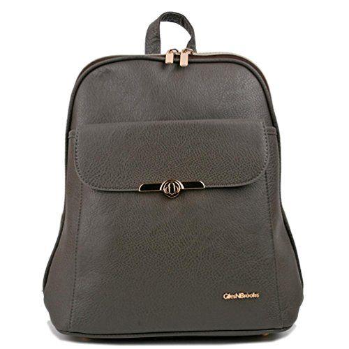 e83ff425492 Copi Women s Simple Modern Design Deluxe fashion Backpacks One Size Gray  Copi
