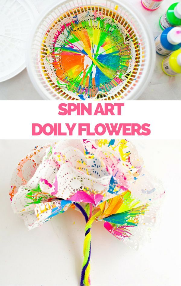 crafts to do with kids how to make spin doily paper flowers 6404