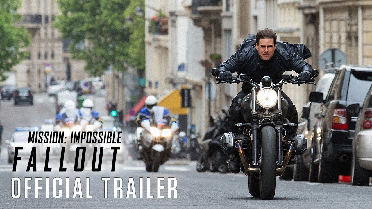 Mission Impossible Fallout Starring Tom Cruise Official Trailer In Theaters July 27 2018 Mission Impossible Fallout Fallout Trailer Mission Impossible