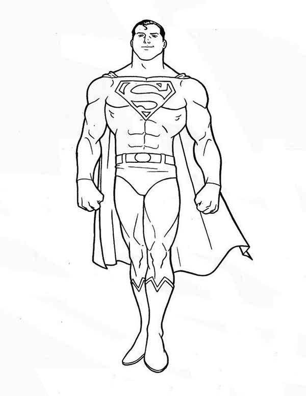 Superman Superman Is Standing Coloring Page Places To Visit