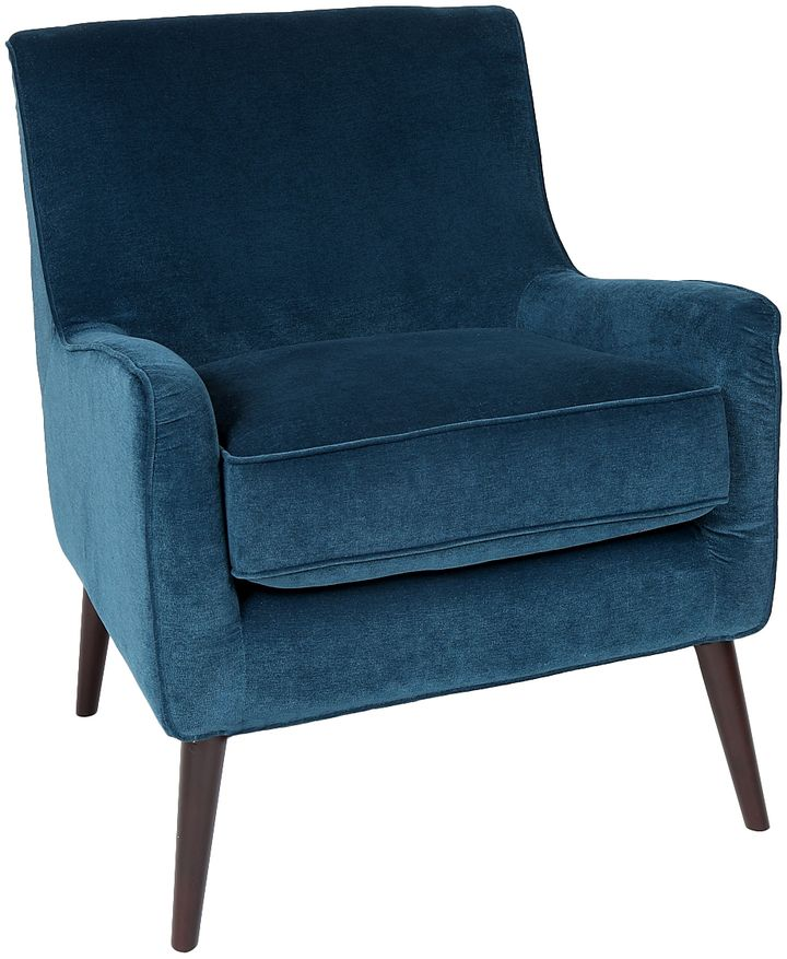 Best Blue Kristina Mid Century Modern Accent Chair Armchair 400 x 300