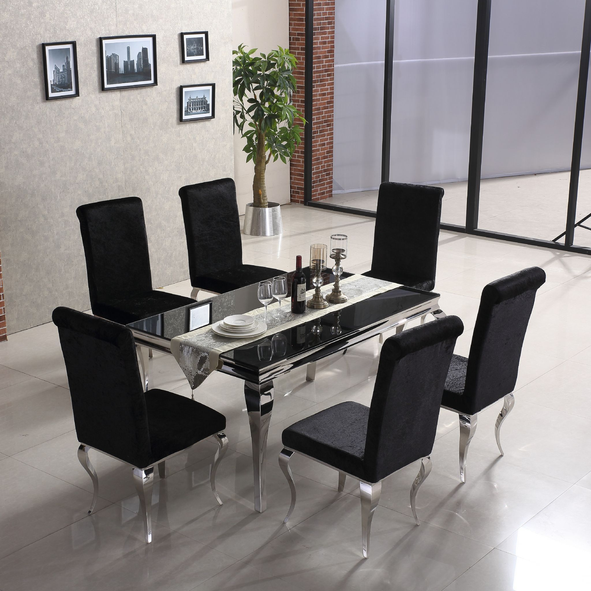 Clarissa Black Chrome Dining Table 75424 P Jpg 2048 2048 Black