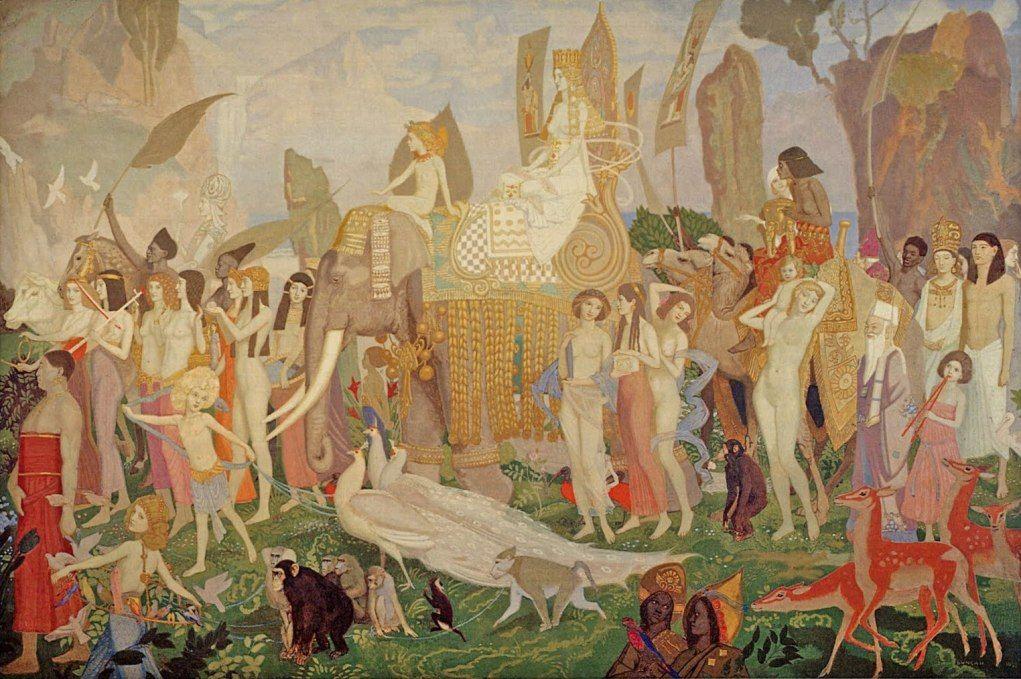 John Duncan (Scottish 1866-1945), Queen Of Sheba