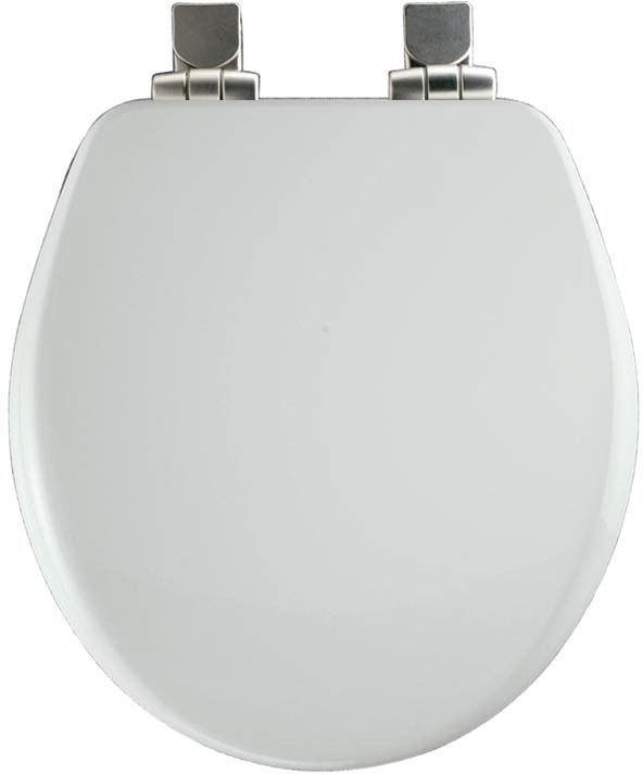 Church White Wood Round Slow Close Easy Clean Toilet Seat Church