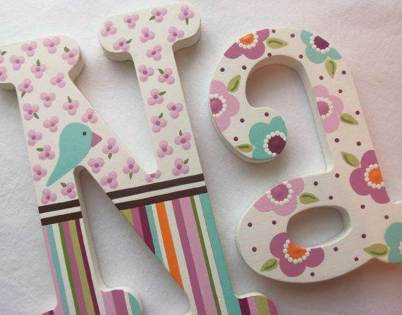 Painted Wooden Letters Namen Pinterest Painting wooden letters