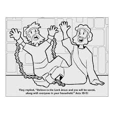 Paul And Silas Coloring Page Sila In Jail To Color Popular