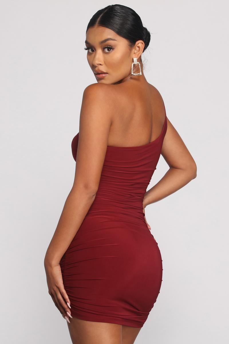 Such A Stunner One Shoulder Ruched Mini Dress Mini Dress Ruching Dresses [ 1200 x 800 Pixel ]
