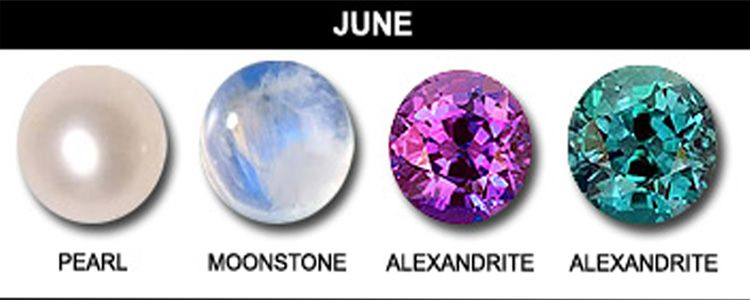 Those born in June are lucky to have three birthstones to ...