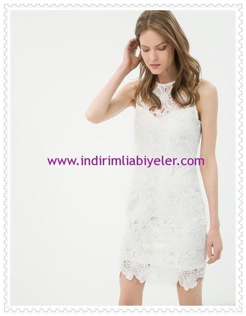 Koton Beyaz Cicek Desenli Mini Abiye Elbise Elbise Mini Elbise Elbiseler