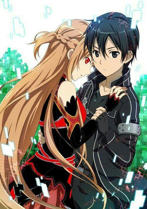Kirito asuna dark couple sword art online sword art - Dark anime couples ...