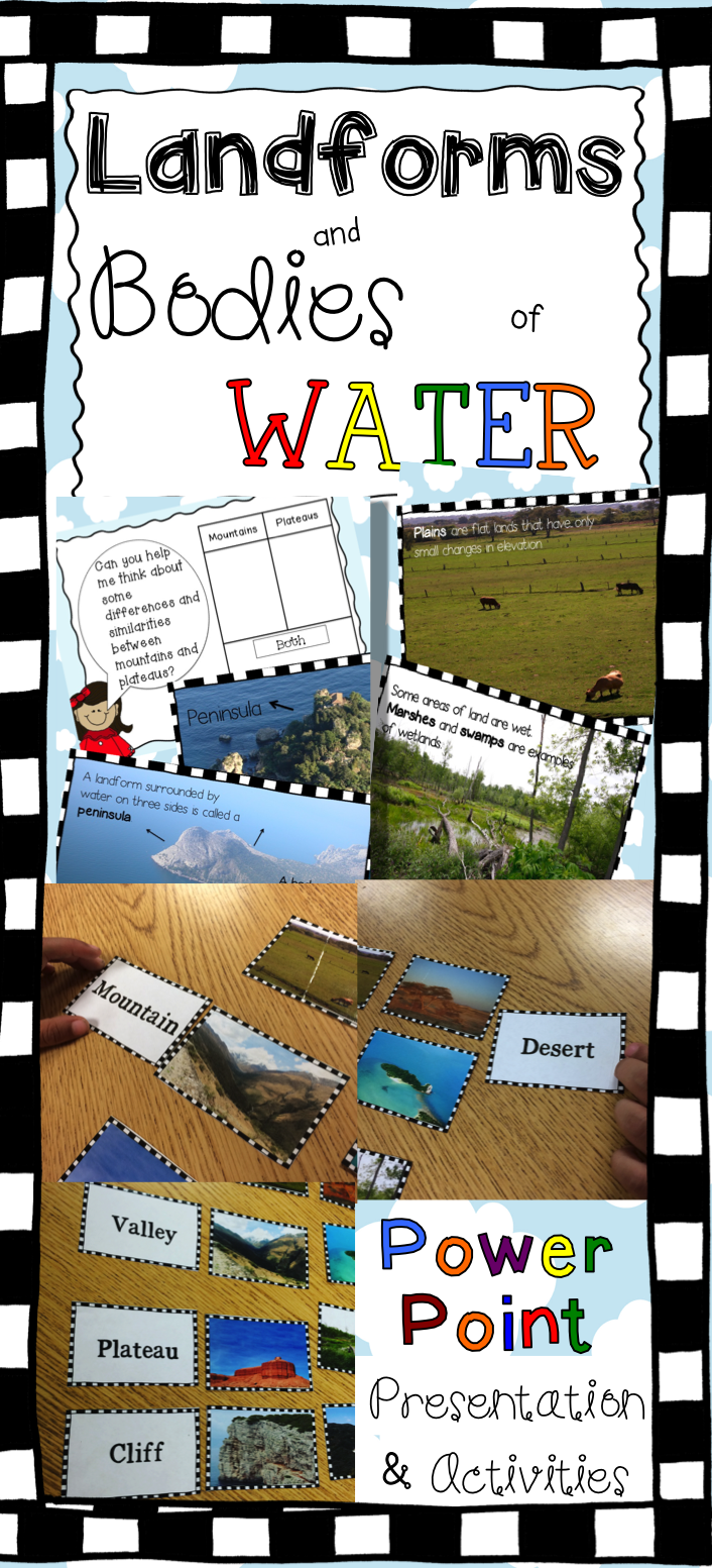 Worksheets Landforms And Bodies Of Water Worksheets landforms activities and powerpoint social studies worksheets a stunning bodies of water presentation is just the beginning what you