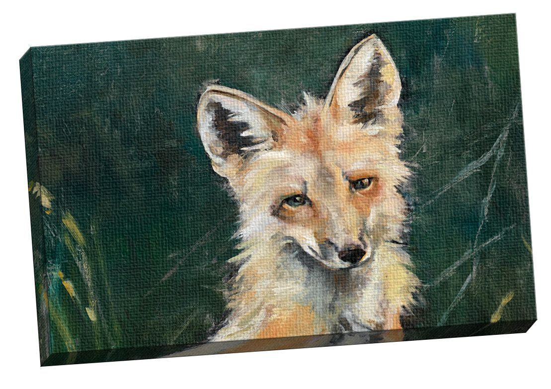 Fox Horizontal by Elinor Luna Painting Print on Wrapped Canvas