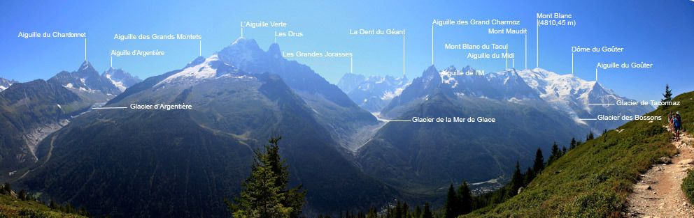 Massive Views Of Mont Blanc And Its Surrounding Peaks Make Every
