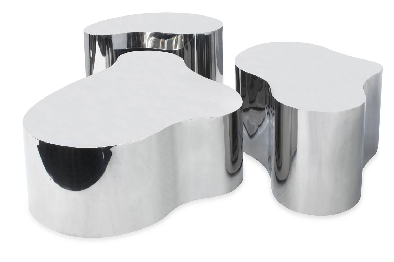 "karl springer free form coffee table  Exceptional Set of Three ""Free-Form Coffee Tables"" by Karl ..."
