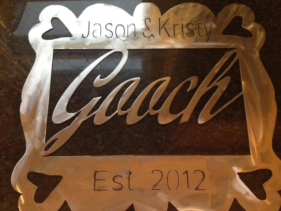 Personalized Name Plate  $30 00, via Etsy  | Marvalous Metal