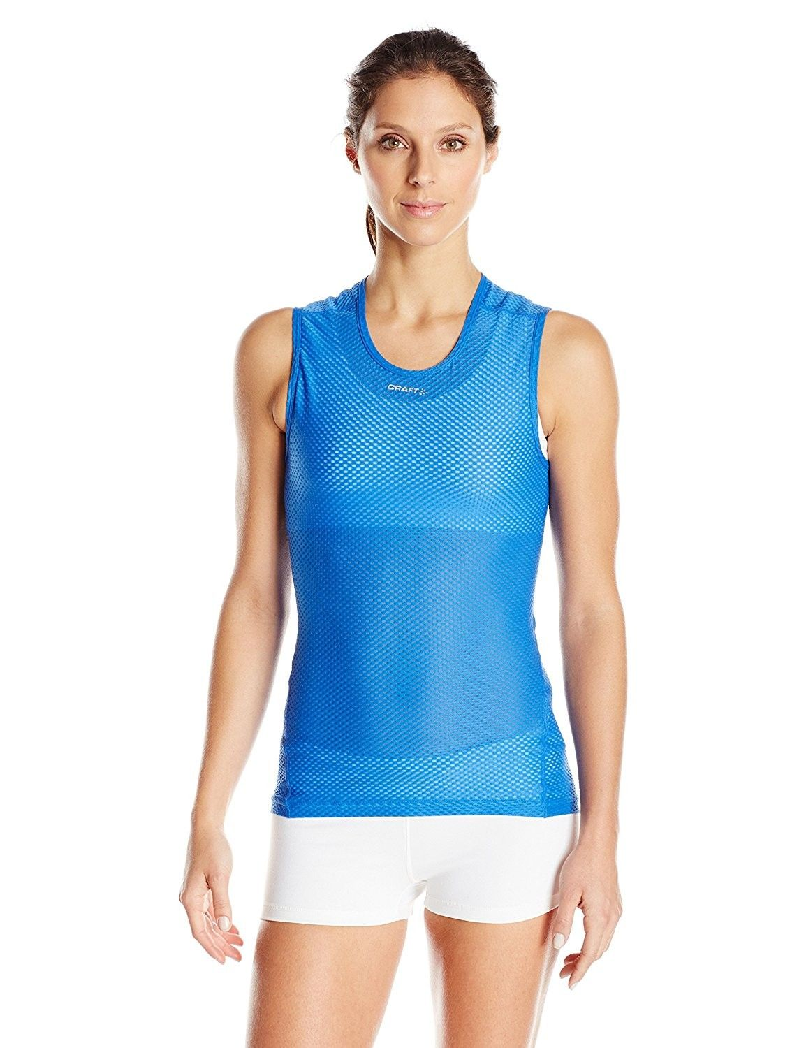cf1b34bc5f7a1 Craft Women s Cool Mesh Superlight Singlet Base Layer Sleeveless Shirt -  Tempo Shock - CS129BGWQQ1